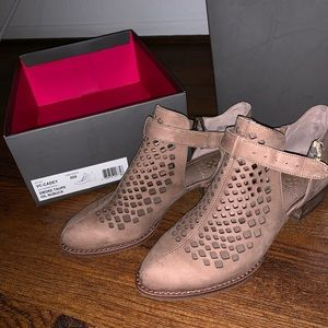 Vince Camuto Cutout Cadey Ankle Booties - Taupe